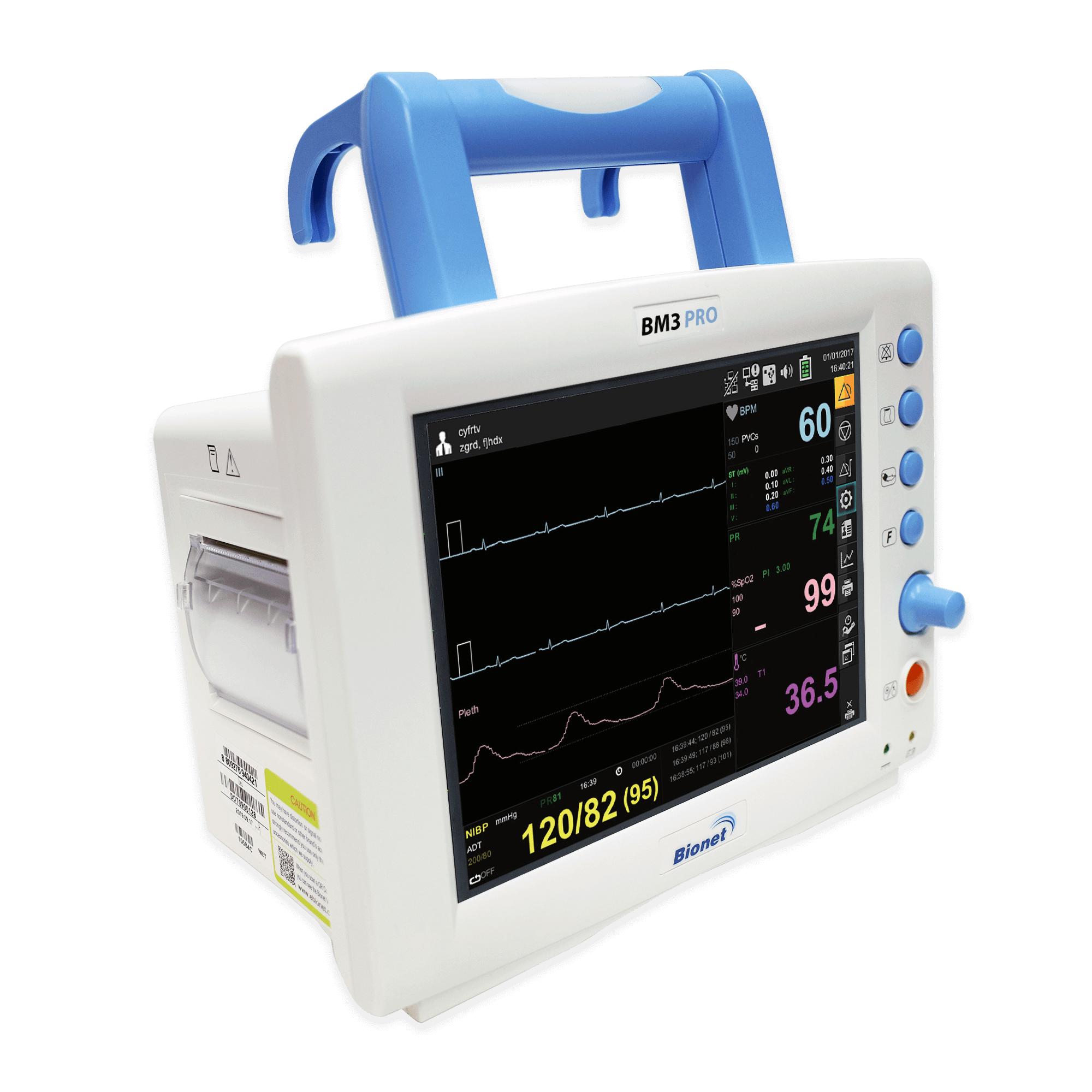 Bionet BM3 Pro Multi-Parameter Patient Monitor